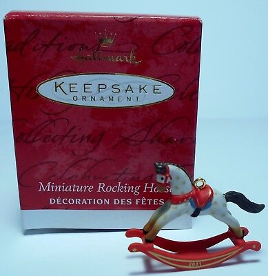 "2001 Hallmark Miniature Ornament ""Rocking Horse"" Collector's Club  MIB"