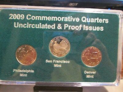 2009  DISTRICT OF COLUMBIA QUARTER SET P D & PROOF 3 COINS  IN HOLDER  xx