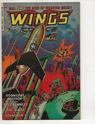 Wings Comics #120 Fn/vf Golden Age 1953 Fiction House Air Combat Doomsday Story