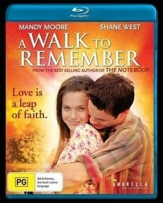 A Walk to Remember Cult Blu-Ray Disc Adam Shankman Shane West Mandy Moore