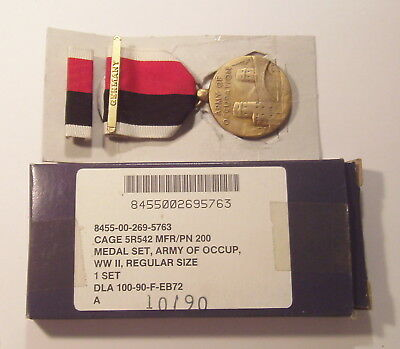 WWII Army of Occupation Medal and Ribbon with GERMANY BAR in Box