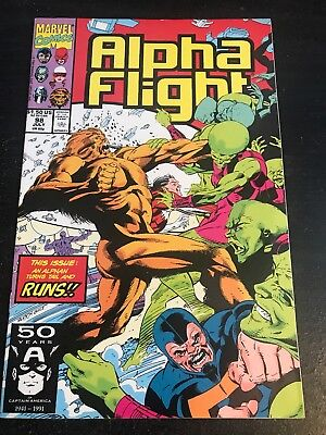Alpha Flight#98 Incredible Condition 9.2(1991) Avengers, Blair Art!!