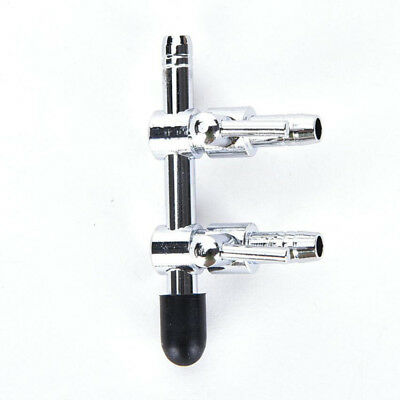 2 Valve Way Thread Stainless Steel Aquarium Air Flow Distributor Lever Control