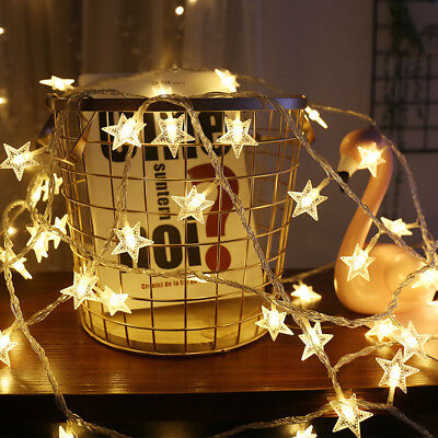 LED Star String Christmas Lights Fairy Lights for Christmas party decoration