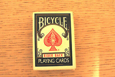 Bicycle Rider Back Poker 808 Complete Deck Playing Cards In Box