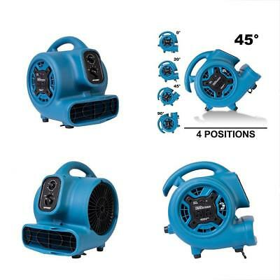 XPOWER P-230AT 1/5 HP 800 CFM Speeds Mini Air Mover With 3-Hour Timer And Dual