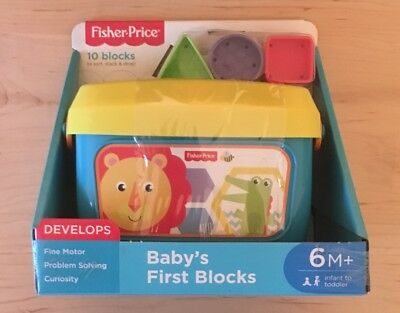 NEW Fisher-Price Baby's First Blocks Learning Toy 6+ Months Infant toddler