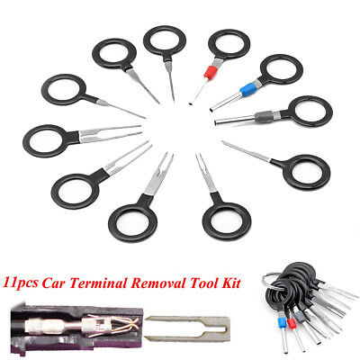 11Pcs Car Terminal Removal Tool Wiring Connector Extractor Puller Release Pin ZQ