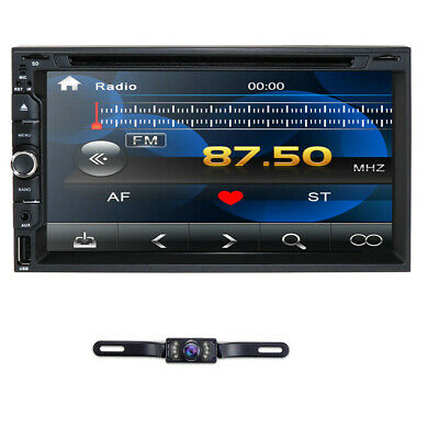 "Touch Screen Sony Lens Double 2Din 7"" Car Stereo Radio DVD Player BT USB +Camera"