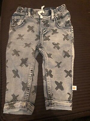 Rosie Pope Jeans Baby Size 6-9 Months Crosses
