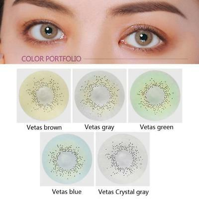 2Pcs Natural Soft Eye UV Protective Big Eye Coloured Contact Lenses Best Gifts