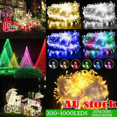 20 30 50 100M 1000LED Waterproof Christmas Fairy String Lights Wedding Garden