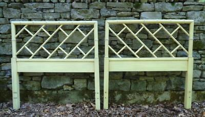 Pair Mid Century Vintage Chippendale Faux Bamboo Twin Bed Headboards- NASHVILLE