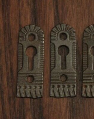 A Pair Of Victorian Cast Iron Door Escutcheons by Trenton - Hardware-1880's.