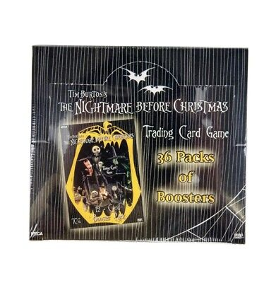 Nightmare Before Christmas TCG Booster Box NECA FACTORY SEALED 36 PACKS PER BOX!