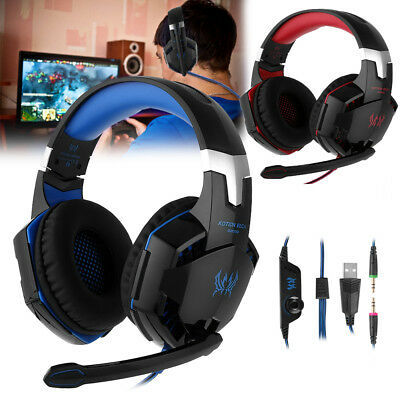 G2000 3.5mm Gaming Headset Mic Headphones For PC MAC Laptop PS4 Xbox ONE 360E US