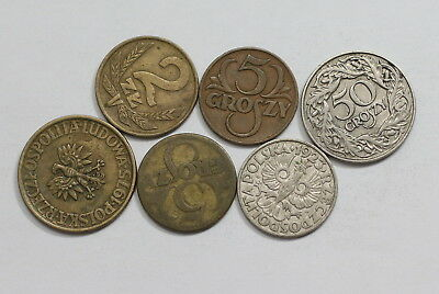 Poland Old Coins Useful Lot A83 Rzw18