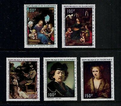 1969 PAINTINGS, DA VINCI, OLD MASTERS, Dahomey, air mail sets, mint MNH MUH