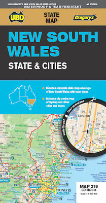 UBD New South Wales State & Cities Map *FREE SHIPPING - NEW*