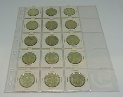 1966 Round 50c Bulk Lot of 15 Coins 80% Silver Australian Australia fifty cent