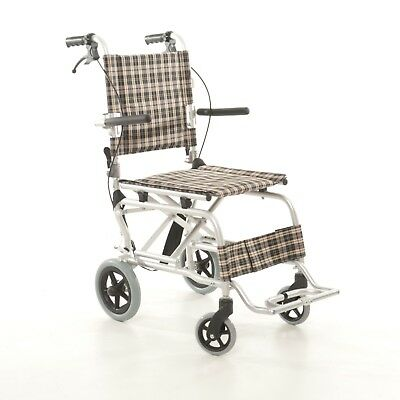Snowdrop Mobility Lightweight Aluminium Folding Wheelchair - Ideal for Holidays