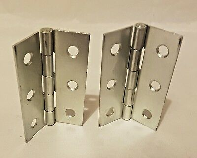 "1-15 Pairs Nickel Plated 3"" Interior Door Butt Hinges FAST & FREE DELIVERY D1"