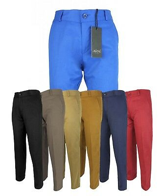 SIRRI Kids Slim Fit Chino Trousers Casual Boys Cotton Pants Age 1 to 14 Years