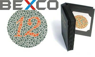TOP QUALITY 14 PLATES ISHIHARA Test Book,Colour Blindness -BRAND BEXCO FREE