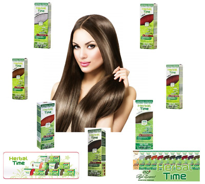 Henna Natural Herbal Time Coloring Cream Ready To Use 75 ml. VARIATIONS