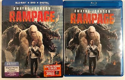 Rampage Blu Ray Dvd 2 Disc Set + Slipcover Sleeve Free World Shipping The Rock