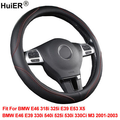 For BMW E46 318i 325i E39 E53 X5 E39 330i M3 540i 525i Car Steering Wheel Cover