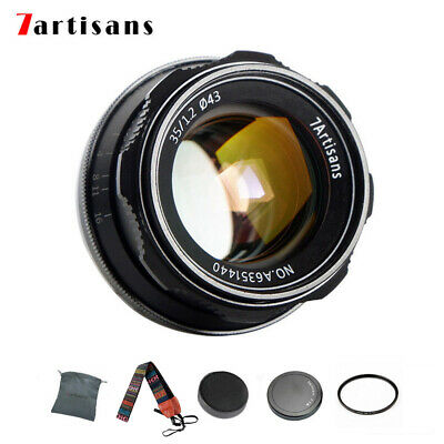 7artisans 35mm F/1.2 APS-C Camera Lens For Fujifilm X-AT XM2 X-Pro1 X-E1 X-T X-E