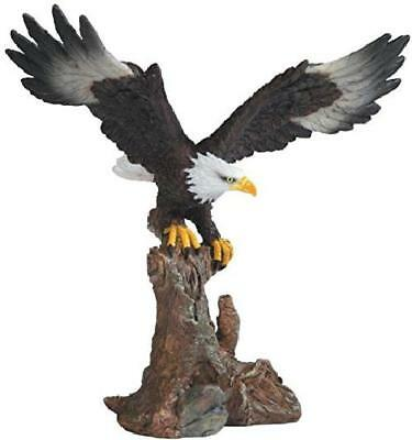 Bald Eagle Figurine Bird Statue Vintage Figurine Home Art Decor Indoor Garden