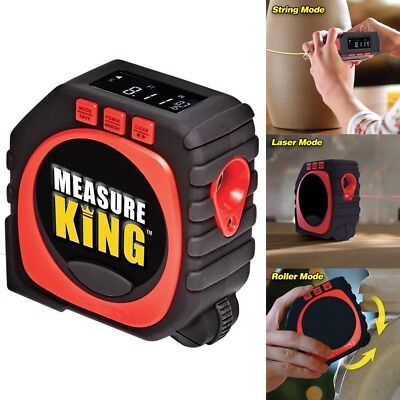 3-in-1 Smart Tape Measure Digital Ruler Measure Laser & Roller Mode Tools Kits
