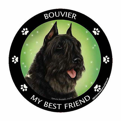 My Bouvier des Flandres Is My Best Friend Dog Car Magnet