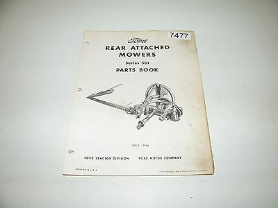 Ford Rear Attached Mowers Series 501 Parts Catalog July 1966 PA-6767-D