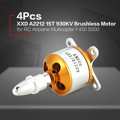 4Pcs XXD 2212 15T 930KV Brushless Motor for RC Airplane Multicopter F450 S500 BF