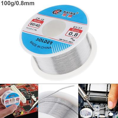60-40 Tin Lead Rosin Core Solder Wire Flux for Electrical Solderding 100g 0.8mm
