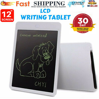 """Writing Lcd Tablet Drawing Board Pad Message Electronic Doodle eWriter Board 12"""""""