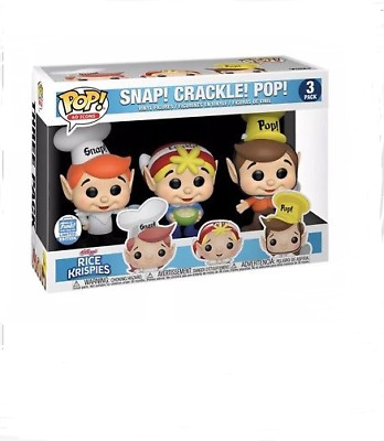 Funko Pop! Vinyl Ad Icons Cereal Rice Krisipies Snap Crackle Pop IN HAND