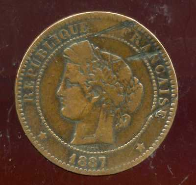 FRANCE   FRANCIA   10 centimes ceres 1887 A  ( 3 )
