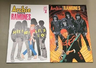 2x ARCHIE MEETS RAMONES ONE SHOT; FRANCAVILLA  2ND PRINT VARIANT Riverdale HOT