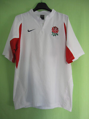 Maillot Rugby Angleterre Nike England Jersey Vintage Shirt Blanc - M