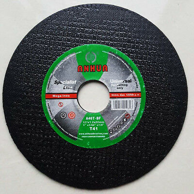 "125mm 5"" CUTTING DISC WHEEL ANGLE GRINDER THIN CUT OFF METAL STEEL STAINLESS 1mm"