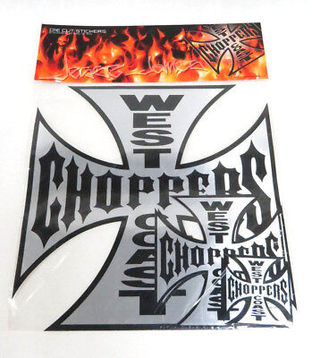 Jesse James West Coast Choppers Die Cut Stickers - One Pack of Five Stickers