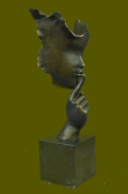 SALVADOR DALI TRIBUTE BRONZE STATUE WOMAN IN MASK GENUINE HOTCAST BRONZE Art