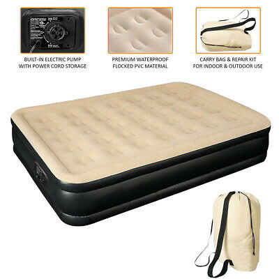 Inflatable Double High Raised Air Bed Mattress With Free Electric Pump