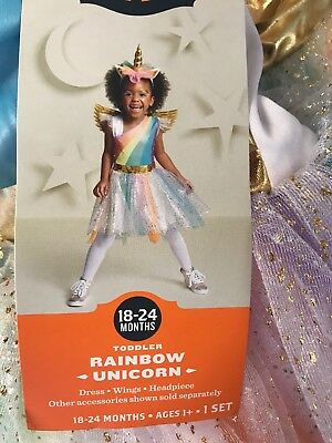 19306cde8a35 NEW Target Hyde and Eek! Rainbow Unicorn Toddler Costume - Size 18-24 Months