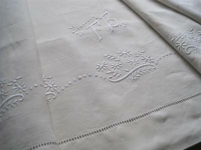 Heavenly Unused Xl French Pure Linen Sheet, Superb Bedding Fabric Or Curtain