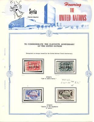 Syrie Philatelic Holder Of Mnh Stamp - Honoring The Un See Scan Lot ( Syr 255)